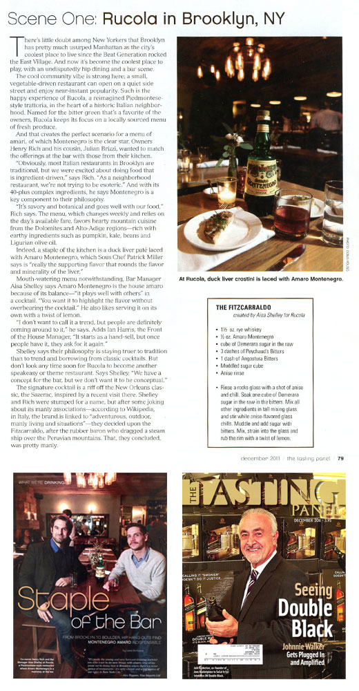 The Tasting Panel Magazine article on Rucola