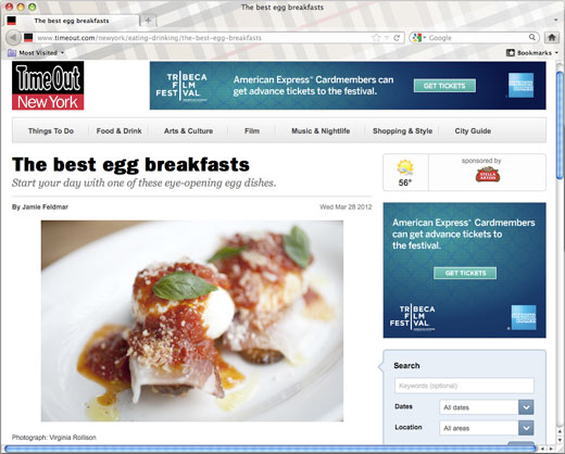 Rucola included in Time Out's feature on the best egg breakfasts in New York